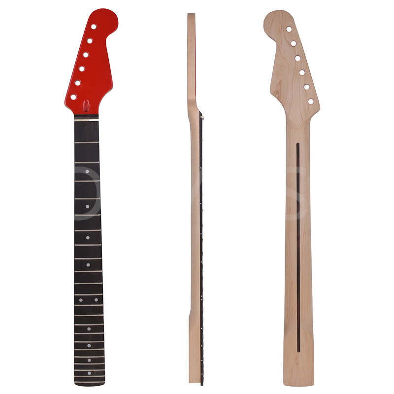 Electric Guitar Neck for ST Replacement Maple Wood with 22 Fret Rosewood Fretboard 1x electric guitar neck mahogany maple wood fretboard truss rod 22 fret 25 5
