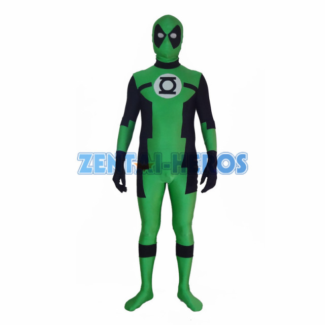Green Lantern Deadpool Custom Superhero Costume Halloween Party Cosplay  Sexy Costumes Catsuit Zentai Suit - Aliexpress.com : Buy Green Lantern Deadpool Custom Superhero
