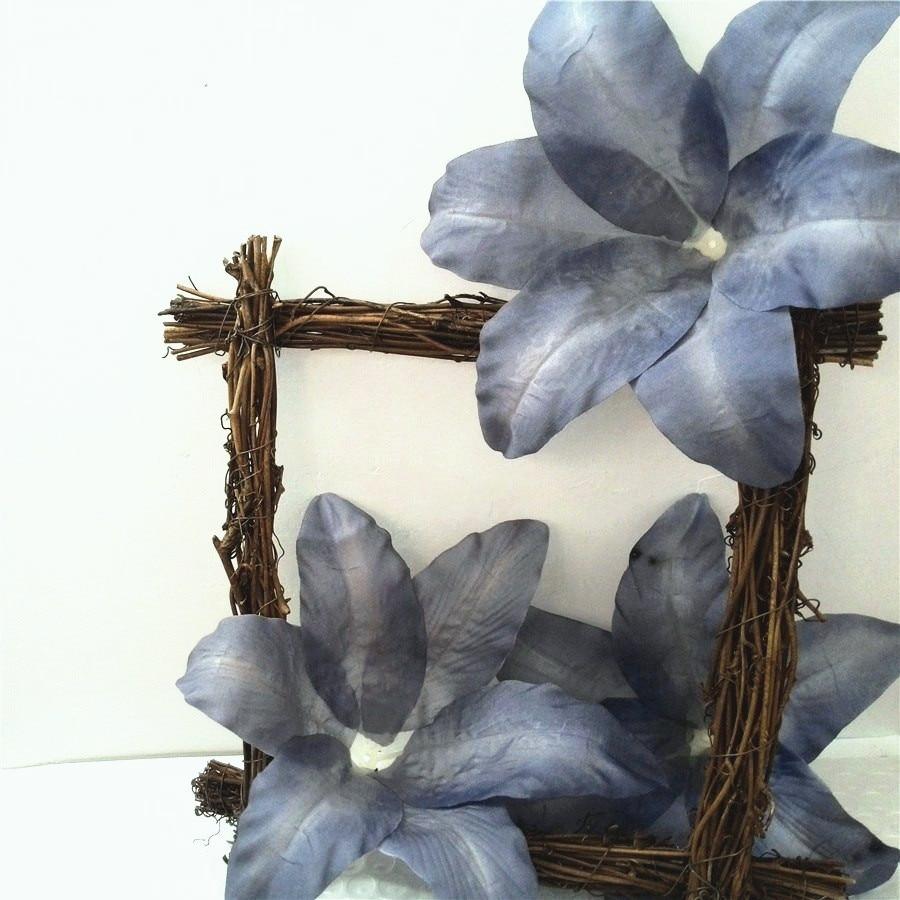 d332892f4e silk tiger lily head  16 grey blue