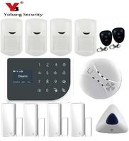 YoBang безопасности WI FI GSM сигнализация Системы Беспроводной безопасности дома тревоги Системы IOS приложение для Android охранной сигнализации Си