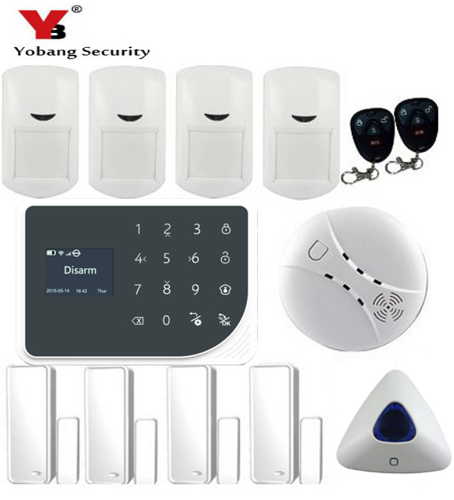 YoBang Security WIFI GSM font b Alarm b font System Wireless Home Safety font b Alarm