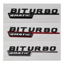 2PCS Car Accessories BITURBO TURBO 4MATIC Side Sticker Body Trunk Emblem Badge for Mercedes Benz W203 W204 W210 W211 W205 CLA