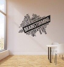 Vinil duvar çıkartmaları beyin fırtınası ofis uzay iş kelime bulut İç sticker duvar ev ticari dekorasyon 2BG18