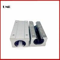2PCS LOT SBR12LUU Sme12Luu SBR12L UU 12MM SHAFT Linear Ball Bearing Block Sbr For CNC Router