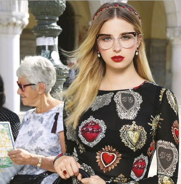 Rivet Styles Optical Fashion Cat Eye Glasses