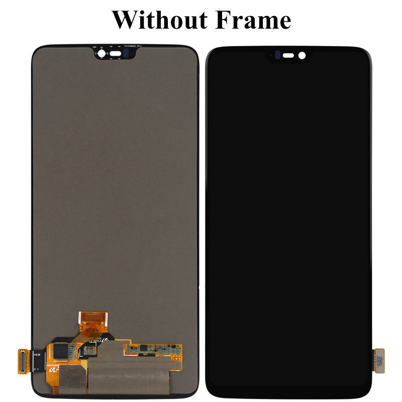 Phone Repair Replacement For Oneplus 6 Six LCD Touch Screen Panel With Frame 6 28 Inch 2280x1080 Jet Black Matte Black Display in Mobile Phone LCD Screens from Cellphones Telecommunications