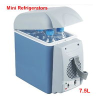 Portable Refrigerators 12V 7.5L Auto Mini Fridge Auto Travel Hold Cool Food Refrigerator ABS Multi Function Cooler Freezer Home