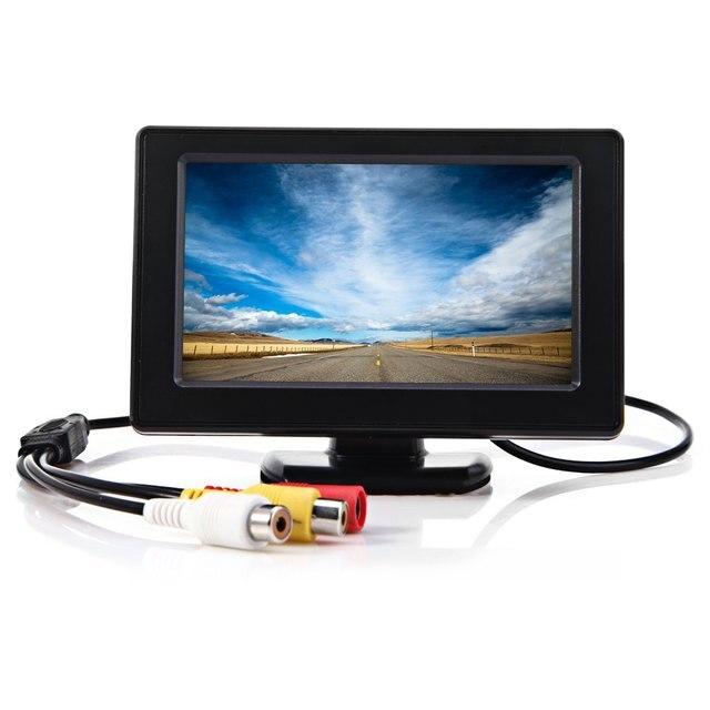 4.3 polegada Cor TFT LCD Mini Car Rear View Monitor de Estacionamento Tela do Monitor retrovisor Para VCD DVD Câmera Reversa para a Segurança de Condução