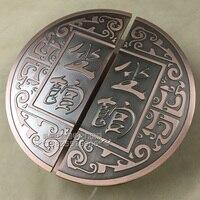 The door hand frameless glass door handle door handle door handle Chinese antique wood LOG round handle