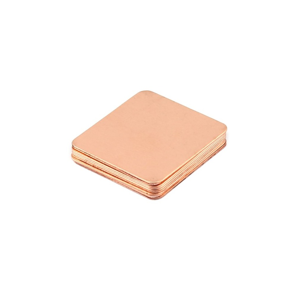 10pcs Pure Copper Heatsink Shim Thermal Pad Barrier For Laptop Graphics Card 20mmx20mm 0.3mm 0.5mm 0.8mm 1.0mm 1.2mm Always Buy Good