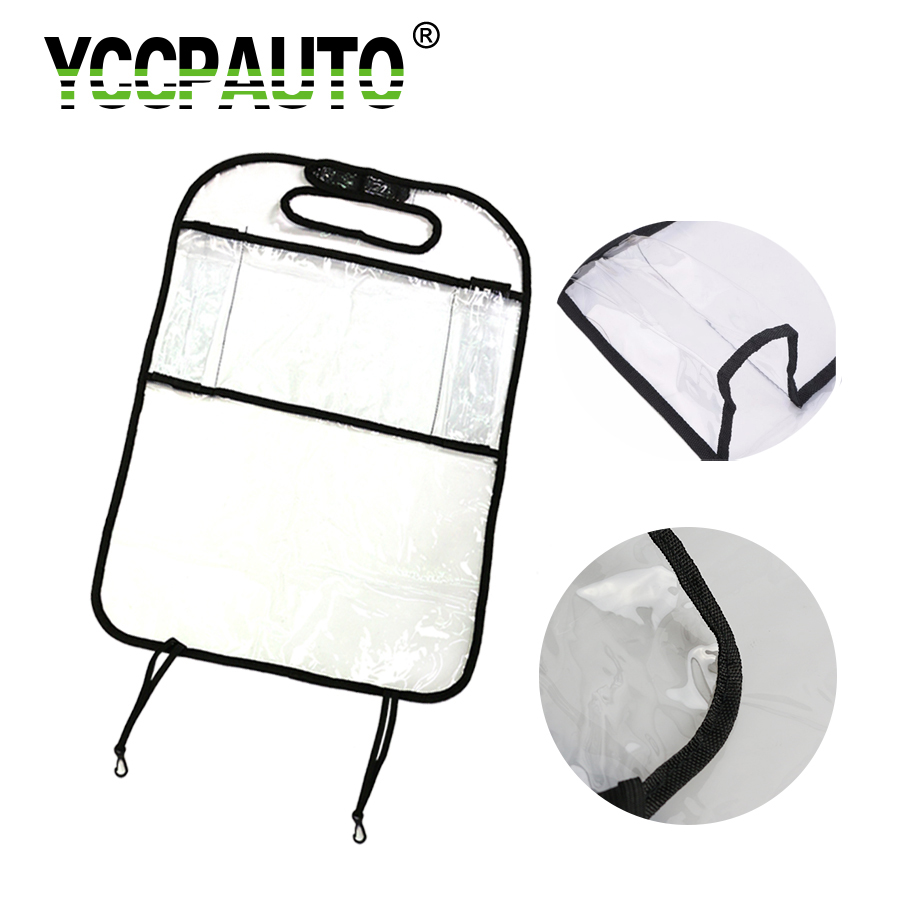 YCCPAUTO Anti-kick Mat Car Accessories Vehicle Back Seat Protection Transparent PVC Cover Baby Protector Sheet Auto Liner 1PCS