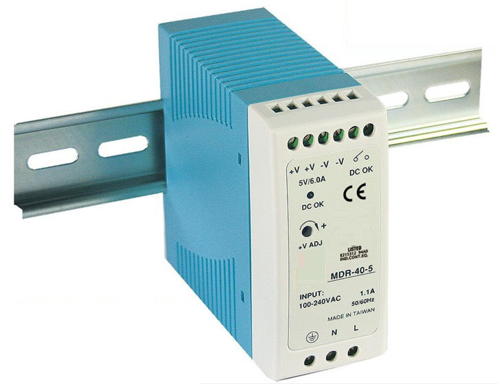 LED driver 40w Mini Size Power Supply Din Rail ac dc switching power supply 12v 3.3a Mdr-40-12 compact size mdr 100 24 din rail led driver 100w 24v output dc dinrail power supply