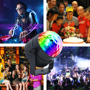 Image 4 - LED Disco Ball Party Lights 3W Sound Activated DJ Stage Lights for Birthday Decorations Home Karaoke Dance Club Party Lights