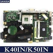 Kefu материнская плата для ноутбука ASUS K40IN K50IN K50AB K40AB K50IJ X8AIN X5DIN K40IP K50IP K40I K50I 100% Тесты оригинальная материнская плата