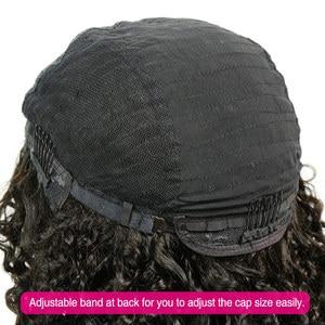 Image 5 - Liweike brezilyalı derin kıvırcık U parçası peruk Remy İnsan saç tutkalsız peruk doğal 1B renk 150% 300% yoğunluklu 2*4 ayrılık uzay