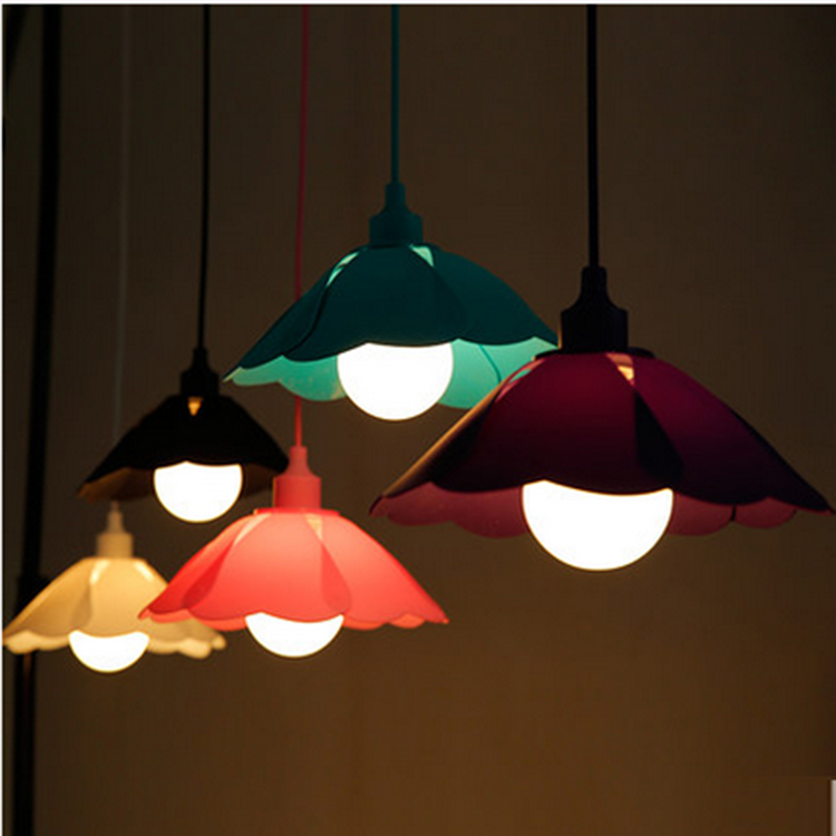 Lowest! Colorful E27 Home Wire Base colors DIY Flexible Shape silica gel Hanging Ceiling Lamp Light Pendant Lighting Decor