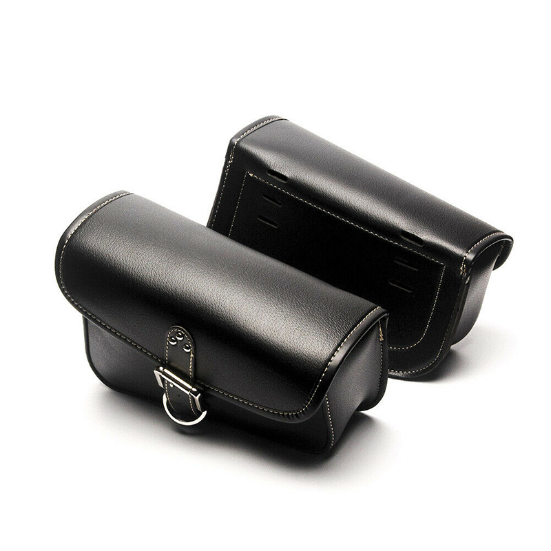 Right&Left Motorcycle Saddlebag Saddle Pu Leather Tool Black Waterproof UsefulRight&Left Motorcycle Saddlebag Saddle Pu Leather Tool Black Waterproof Useful