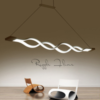 Creative Modern LED Pendant Lamps Kitchen Acrylic Lron Suspension Pendant Ceiling Luminaire For Dining Room Lamparas