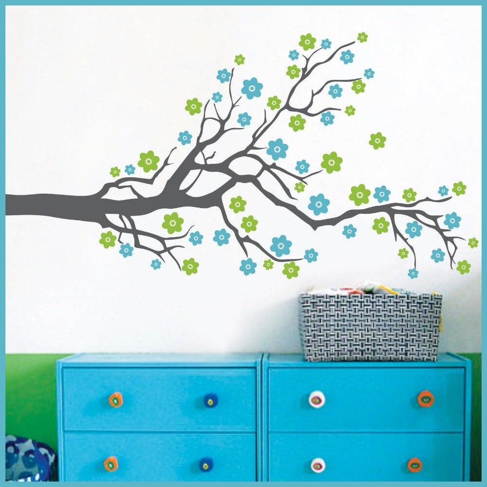 US $21.85 5% OFF Riesige Baum Blasen Kirschblüte Wandtattoo Kindergarten  Baum Blumen schmetterling Baby Kinderzimmer Wandaufkleber Natur Wand dekor  ...