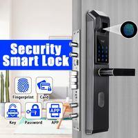 Пароль отпечатка пальца комбинация Умный Замок цифровой электронный дверной замок Безопасность Интеллектуальная блокировка паролем для д