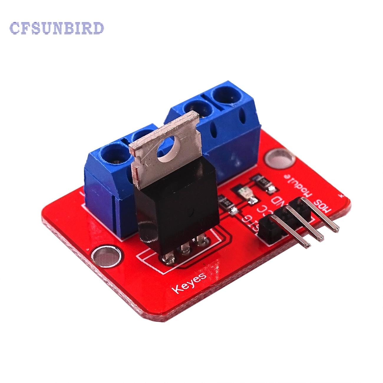 10pcs TOP MOSFET Button IRF520 MOSFET Driver Module for Arduino  ARM Raspberry pi lm2596 dc dc voltage stabilizer regulator module 5v 12v 24v adjustable for arduino raspberry pi avr arm