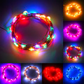 7 Colors Home Use 5M 50LED String Fairy Light Battery Operated Xmas Lights Party New Year Wedding Decoration Lights