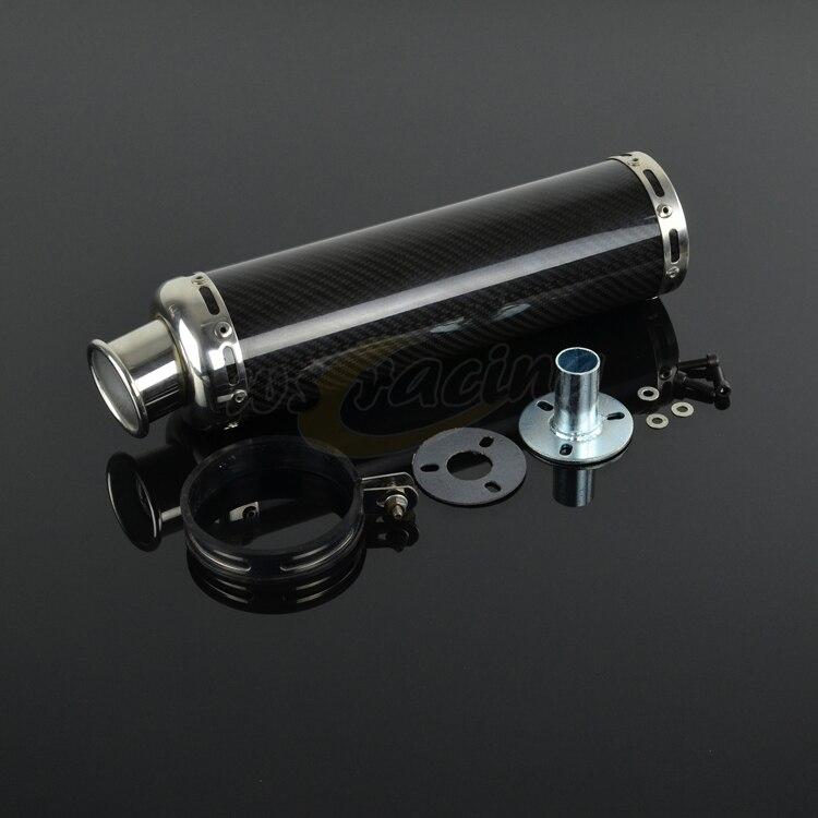 AK Aluminum And Carbon Fiber Exhaust Muffler Pipe Slip on for Scooter ATV Street Bike Scooter