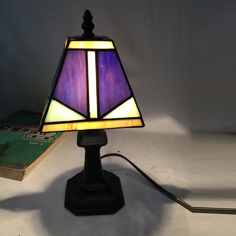 Tiffany living room bedroom bedside lamp lighting wholesale nationwide shipping supply hot study wall  lamp DF53 high grade antique tiffany lamp natural agate jade art decorative hanging lamp bedroom study room