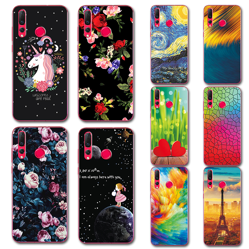 Open-Minded For Huawei Nova 4 Case Novelty Soft Silicone Phone Case Cover For Huawei Nova 4 Nova4 6.4cute Painted Covers Fundas On Nova4 Phone Bags & Cases