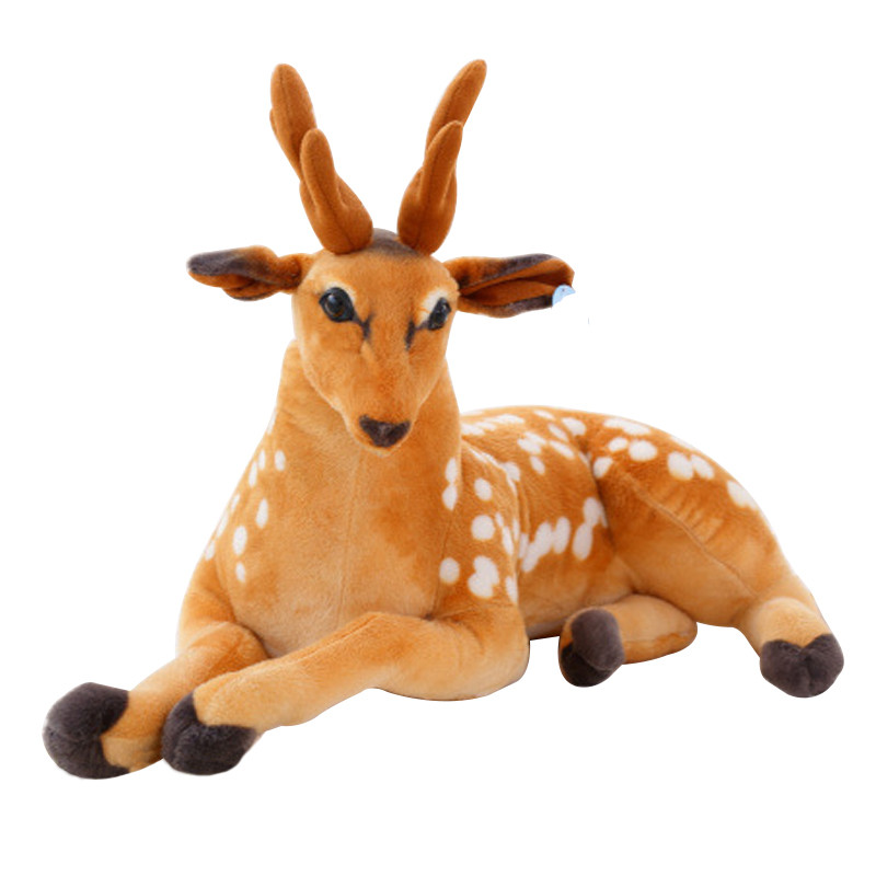 1 pc 30-50cm Simulation Deer Plush Toy Staffed Sika Deer Toy for Kids Baby Doll Children's Birthday Gift stuffed animal 44 cm plush standing cow toy simulation dairy cattle doll great gift w501