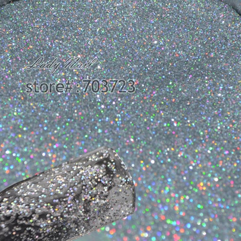 Holographic Glitter Dust Powder 0.2mm Nails Art DIY Tips UV Acrylic Decoration Colorful Laser Silver Coffee Brown Black Golden