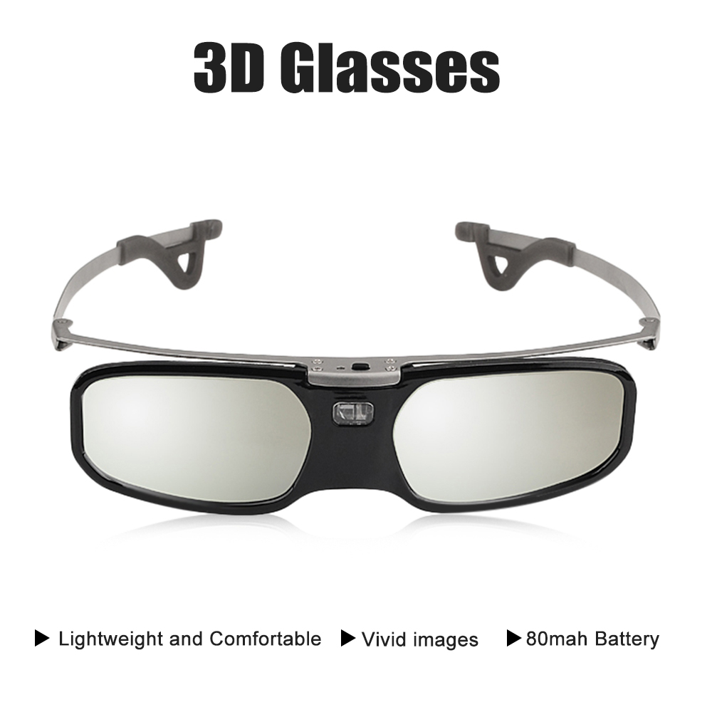 RX30S 3D Glasses Active DLR-link Shutter Virtual Reality Glasses for Viewing Distance up to 20m Support 3D DLP link Projectors optoma zd101 compatible 3d glasses dlp link by quantum 3d