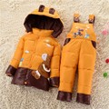 New 2016 Winter Children Clothing Sets Duck Down Jacket Sets Pants-Jacket Hooded Baby Girls Winter Jacket & Coat Pony Pattern