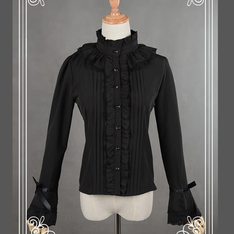 Bluzë e bardhë / e zezë byrynxhyk Bluzë e hollë e mëngë e - Veshje për femra - Foto 4