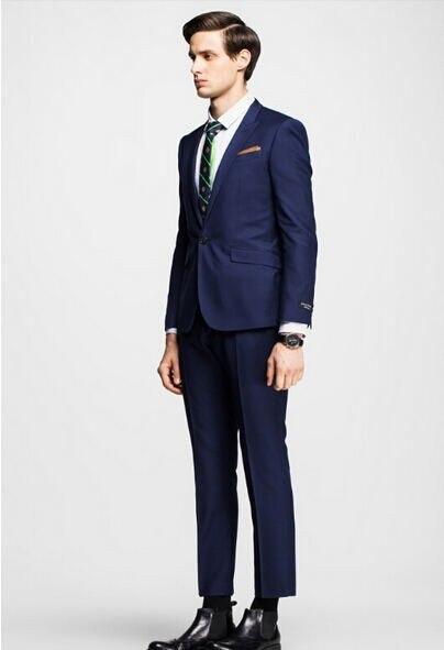 35c8e730836aa Dostosuj trendy mody mężczyzna gentleman formalne garnitury odzież ślubna  groomsman garnitur dwuczęściowy garnitur garnitur (kurtka + spodnie) w  Dostosuj ...