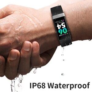"Image 5 - לחץ דם חדש להקת יד קצב לב צג צמיד אק""ג PPG HRV חכם שעון עם רל תצוגת צמיד"