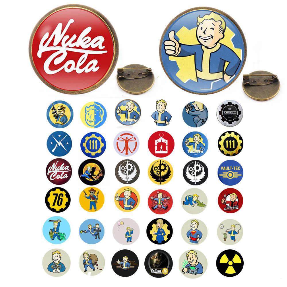 Anak Laki-laki Sederhana Lucu Nuka Cola Fallout Raduation 4 Wanita Bros Paduan Bros Fashion Gaya Cosplay Lencana Bros Aksesoris
