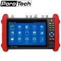 Ipc9800 7 pulgadas cctv tester ip + analógico + cvi tvi ahd coaxial tester/poe potencia de salida/hdmi out/wifi incorporado ipc-9800