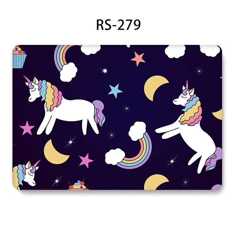 שליכט אקרילי Case Unicorn Cartoon חמוד ל- MacBook Air 11 2018 13 אינץ Pro 13 15 Retina 12 13 15 Hard PVC Case A1369 A1425 A1370 1465 Funda (2)