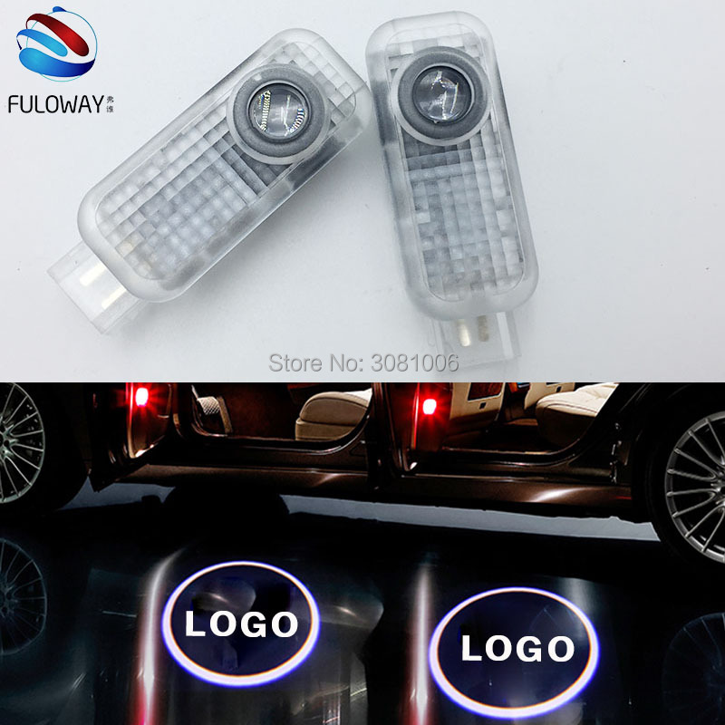 For Audi Sline A8 A7 A5 A6 A4 A3 A1 R8 TT Q7 Q5 Q3 C6 B5 Car Courtesy Door Logo Lights Projector Laser Ghost Shadow Accessories 3d metal s line sline sticker car front grille adhesive emblem badge accessories styling for audi a1 a3 a4 a5 a6 a7 q3 q5 q7 tt