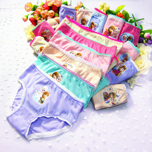 12pcs/Set Underwear 2-12T Anna Elsa Girls Fashion Cartoon Panties Underwear Cute Soft Cott