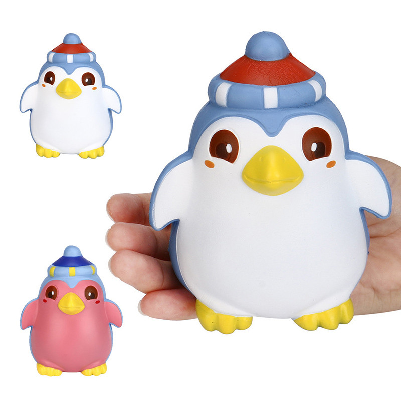 2018 New Jumbo Penguin Scented Slow Rising Kids Toy Soft Phone Strap For Child Adult Attention Office Antistress Novelty Relax Be Novel In Design Cellphones & Telecommunications Mobile Phone Straps