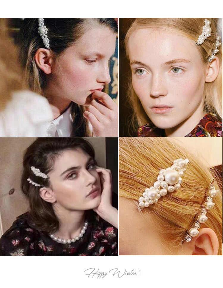 เกาหลีสไตล์ไข่มุกผม Pins ชุดสำหรับหญิงเลดี้หญิงคลิปพิน Barrette Headwear Hairpins อุปกรณ์เสริมผมเครื่องประดับผม