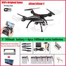 SYMA X5SW/x5sw-1 WI-FI RC fpv Quadcopter Zangão com Câmera HD Sem Cabeça 2.4g 6-Eixo Em Tempo Real helicóptero DO RC Quad copter Brinquedos