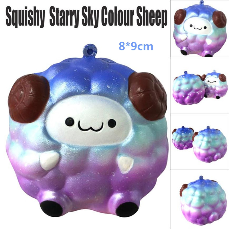 Starry Sky Colour squishies Squee Soft Sheep Cartoon Squishy Slow Rising Squeeze Toy anti stress brinquedo novedades