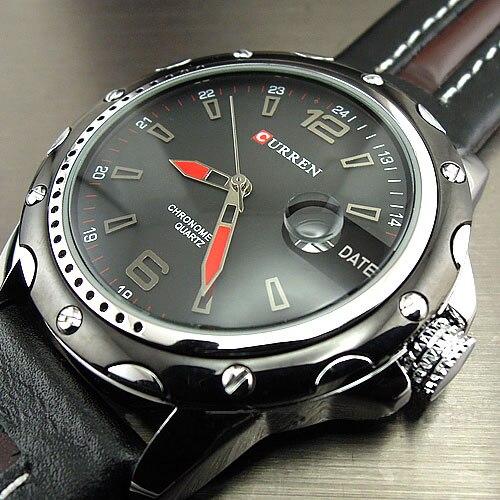 Prix pour Top marque de luxe CURREN montres hommes mode Casual Quartz heure et Date horloge bracelet en cuir homme sport montre - bracelet Relogio Masculino