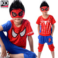 Hot sale Children Summer Spider-Man Clothing Sports Outfit for Boy Kids Tracksuit Cotton Short sleeve T shirt middle pants Set