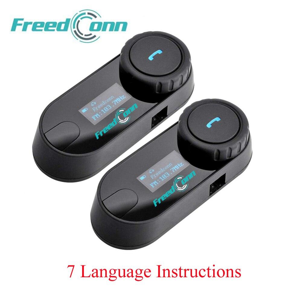 2 pièces d'origine TCOM-SC mis à jour BT casque de moto Bluetooth Interphone casque Interphone avec écran LCD + Radio FM