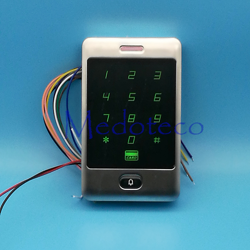 Hot Sale! IP68 Waterproof Metal Rfid Access Control Touch Keypad With 8000 Users Outdoor RFID Access Control System metal rfid em card reader ip68 waterproof metal standalone door lock access control system with keypad 2000 card users capacity