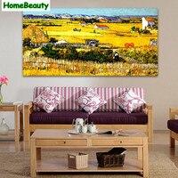 ホーム美容50*100 diyキャンバス絵画数字で壁絵用リビングルームアクリル有名な描画による番号麦畑dy18